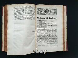 1674 Anthony Wood First Edition Book History Oxford University College Map Print