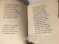 1933 book ROMANCERO GITANO SIGNED by FEDERICO GARCIA LORCA ART 1st edition poems