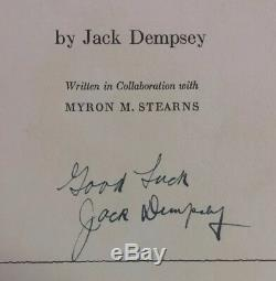 1940 Jack Dempsey SIGNED AUTOGRAPHED Round By Round 1st Edition H/B Boxing Book