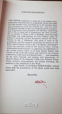 1977 First Edition Simon Necronomicon Book Signed Twice Schlangecraft