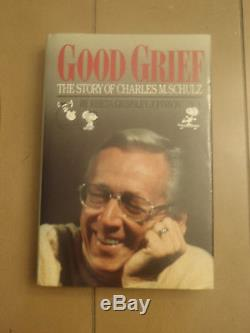 1989 Good Grief 1st Edition Snoopy Drawing Signed Charles M. Schulz