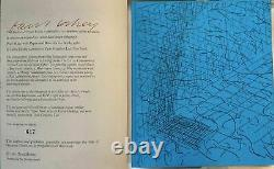 2 DAVID HOCKNEY SIGNED PAPER POOLS Limited Edition'80 Swimming + Sketch Book 82
