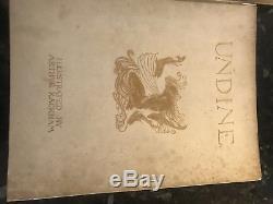 2 First Edition, SIGNED, Rackham Books Rhinegold (Damaged) and Undine