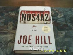 2013 1st Edition Signed By Joe Hill Nos4a2 Hc Book Very Fine Condition Authentic