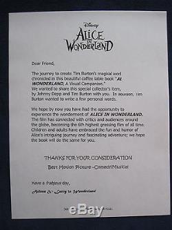 ALICE IN WONDERLAND Film Book SIGNED by JOHNNY DEPP & TIM BURTON 1st Edition