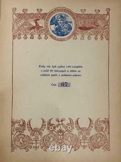 ALPHONSE MUCHA Rare BOOK 1925 LIMITED EDITION OF 200 NUMBERED ART NOUEAVU Poster