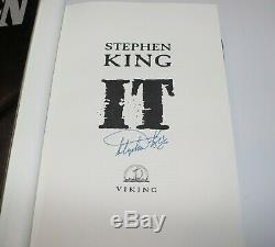 AUTHOR STEPHEN KING SIGNED'IT' 1ST/1ST EDITION PRINTING HARDCOVER HC BOOK withCOA