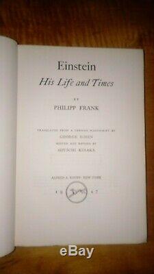Albert Einstein Signed Book Einstein His Life and Times First Edition 1947