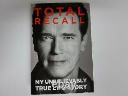 Arnold Schwarzenegger Hc 1st Edition Book Total Recall Signed Book + 2 Photos