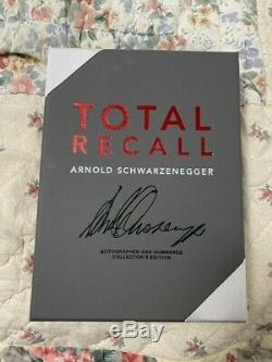 Arnold Schwarzenegger Signed Limited Edition Numbered Book Full Signature