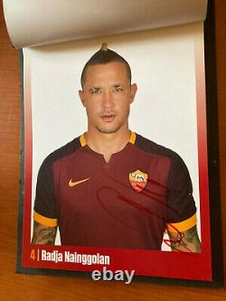 As Roma Worn Con Autografi- Book Limited Edition Totti De Rossi Salah Signed