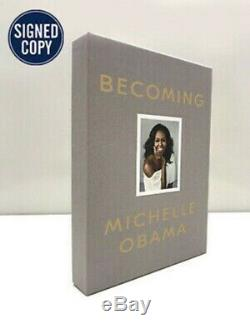 Autographed MICHELLE OBAMA AUTO LIMITED EDITION DELUXE BECOMING BOOK Signed