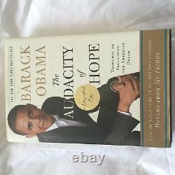 Barack Obama Signed Book First Edition COA