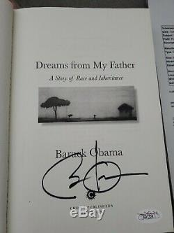 Barack Obama Signed Dreams From My Father 1995 1st Edition Book PSA/DNA COA
