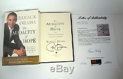 Barack Obama Signed The Audacity Of Hope 1st Edition/1st Print Book Psa/dna Coa