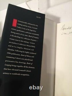 Book of Longing by Leonard Cohen SIGNED! HARDCOVER FIRST EDITION 1st