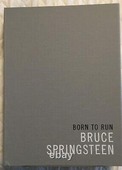 Bruce Springsteen Born to Run Book Deluxe Edition Autographed Signed 930/1500