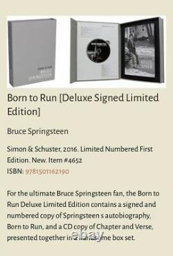 Bruce Springsteen Signed Sealed Deluxe Limited Edition Book Box Set Born To Run
