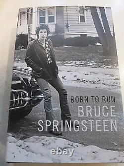Bruce Springsteen signed first edition book coa + Exact Proof! Born To Run
