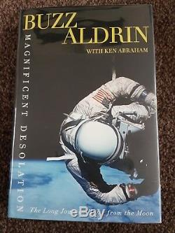 Buzz Aldrin Signed Magnificent Desolation Book Full Aftal/uacc Coa. 1st Edition