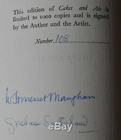 Cakes and Ale, W Somerset Maugham & Graham Sutherland Signed Book Ltd Edition