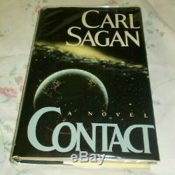 Carl Sagan Signed Contact Book 1985 First Edition First Printing HC/DJ