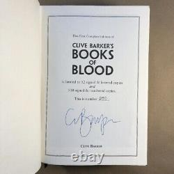 Clive Barker's Books of Blood I-VI (Signed Limited First, Stealth Press Edition)