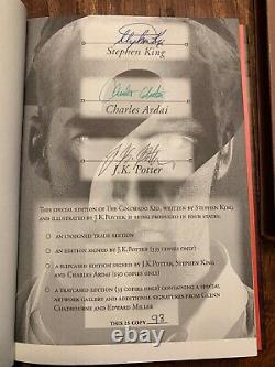 Colorado Kid Signed Numbered Limited Edition Stephen King Book