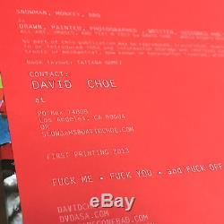 DAVID CHOE Snowman Monkey BBQ SIGNED First Edition Art Book Cursiv Slow Jams