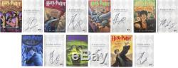 Daniel Radcliffe Signed Harry Potter Complete 1st Edition Hardcover Book Set BAS