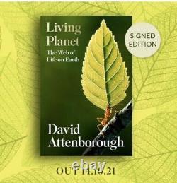 David Attenborough Signed Living Planet Signed Edition Hardback Book Pre Order 1
