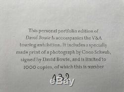 David Bowie Is Book SIGNED Personal Portfolio Black Edition autograph Rare