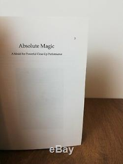 Derren Brown Absolute Magic 1st Edition, Hand Signed! Incredibly Rare Book