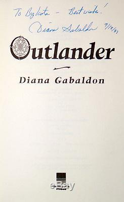 Diana Gabaldon SIGNED DATED Outlander, Book 1, Hardcover 1st Edition 5th Print