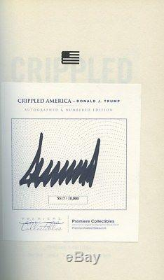 Donald Trump Signed Autographed Book Crippled America Limited 1st Edition Huge