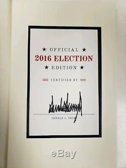 Donald Trump Signed Book Art of the Deal 2016 Election Edition Autograph