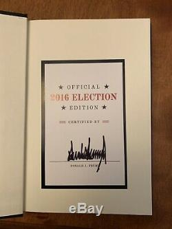 Donald Trump Signed Book Hardcover Art of the Deal 2016 Election Edition Unread