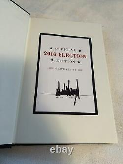 Donald Trump Signed Book The Art Of The Deal Official 2016 Election Edition