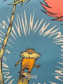Dr. Seuss Art The Lorax Book Cover Limited Edition Very RARE MINT