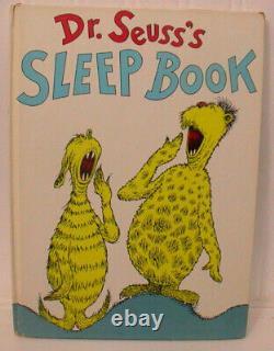 Dr Seuss Signed 1st Us Edition 1962'sleep Book' Near Fine