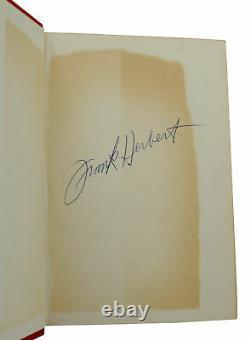 Dune FRANK HERBERT Signed Book Club Edition 1965