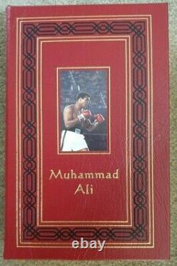 Easton Press MUHAMMAD ALI His Life Times Signed Ltd Edition Leather Bound Book