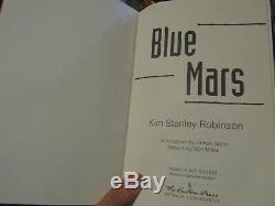 Easton Press SIGNED 1st EDITION Book Kim Stanley Robinson Blue Mars