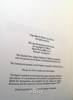 Easton Press SMOKIN JOE Frazier Signed Limited Edition Leather Bound Book COA