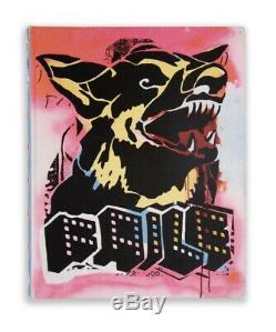 FAILE Prints + Originals 1999-2009 Book Rare SIGNED Studio Edition Dog Flag