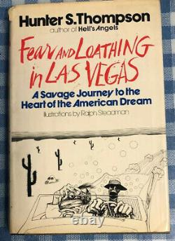 Fear and loathing in Las Vegas Book. First Edition 1971 HBDJ First US Ed Signed