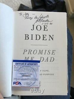 First Edition President Joe Biden KEEP THE FAITH SIGNED Promise Me, Dad Book
