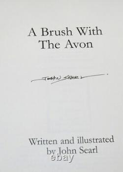Fishing Book A Brush With The Avon, J. Searl, signed 1st edition, Leather 48