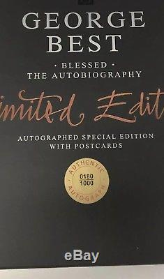 George Best SIGNED Blessed, Autobiography, Numbered Limited Edition Book RARE