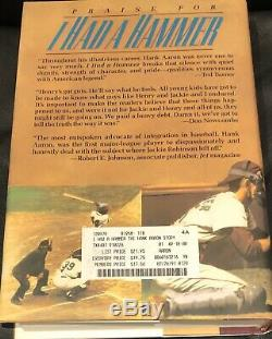 HANK AARON Signed Auto I HAD A HAMMER Book PSA Braves first edition